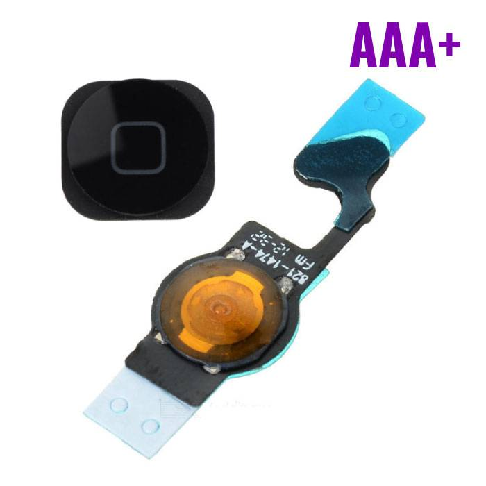 Voor Apple iPhone 5 - AAA+ Home Button Assembly met Flex Cable Zwart
