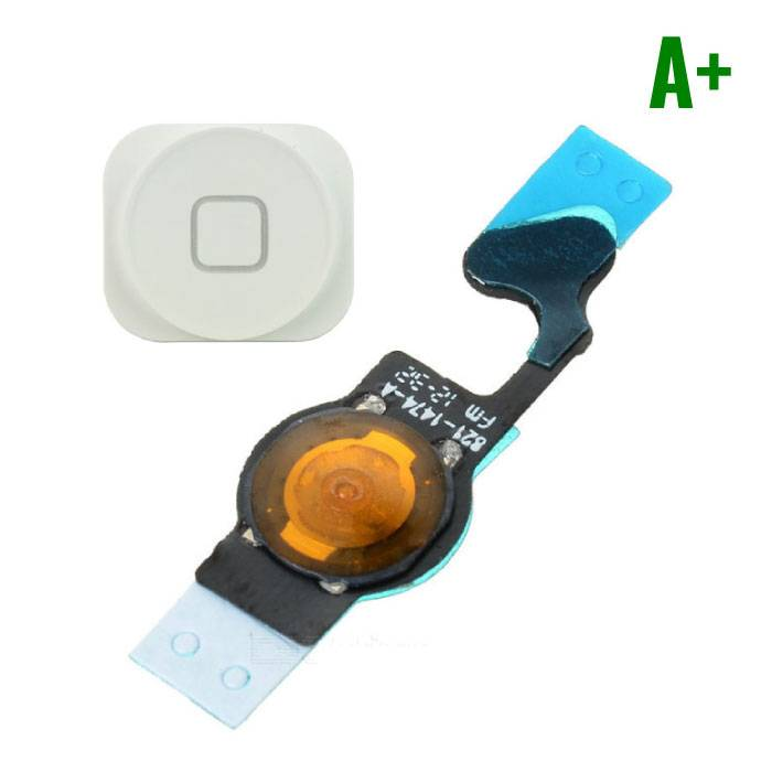 Apple iPhone 5 - A+ Home Button Flex Cable Assembly with White