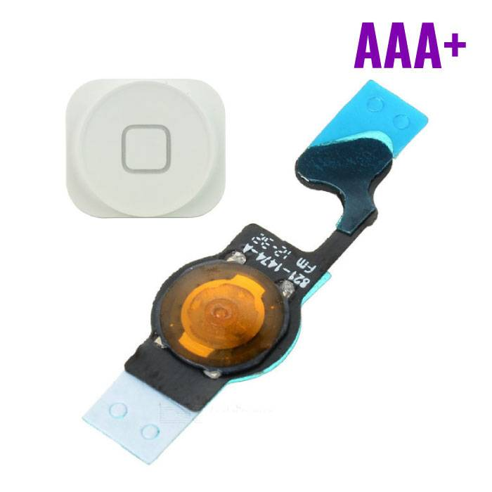 Apple iPhone 5 - AAA + Home Button Flex Cable Assembly with White
