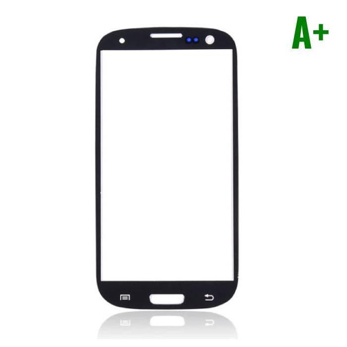 Samsung Galaxy S3 i9300 Frontglas A+ Kwaliteit - Zwart