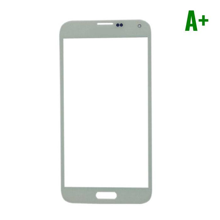 Samsung Galaxy S5 i9600 Glas Plaat Frontglas A+ Kwaliteit - Wit