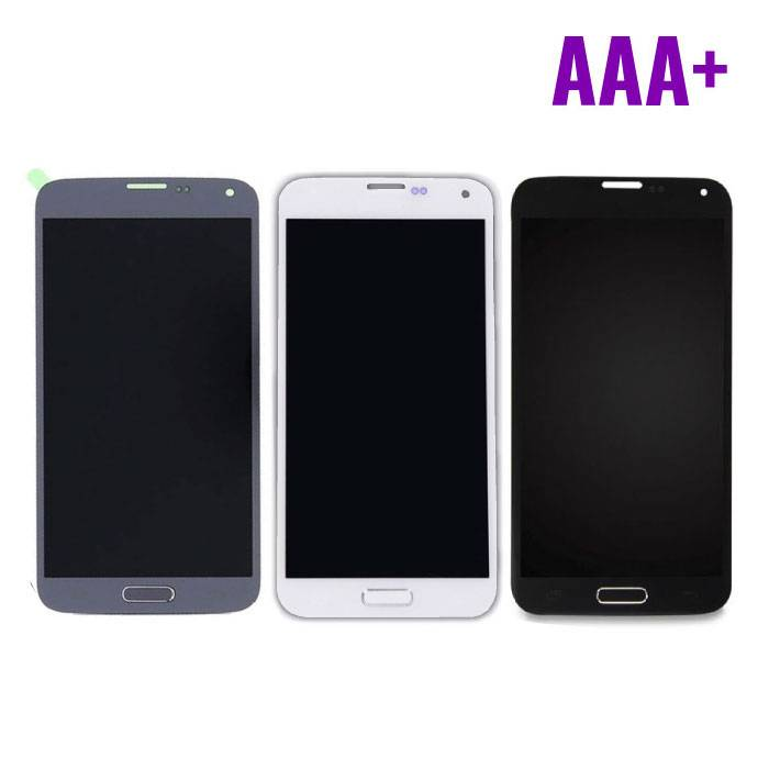 Samsung Galaxy S5 I9600 Scherm (Touchscreen + LCD + Onderdelen) AAA+ Kwaliteit - Blauw/Zwart/Wit