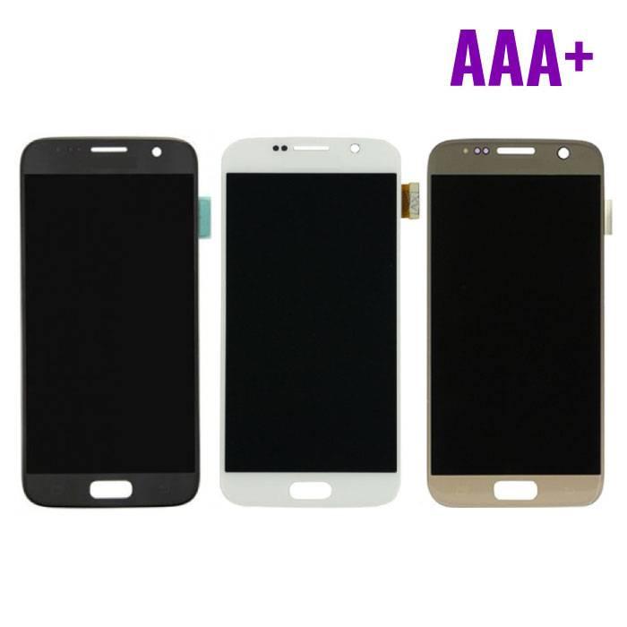 Samsung Galaxy S7 Screen (Touchscreen + LCD + Onderdelen) AAA+ Quality - Black/White/Gold