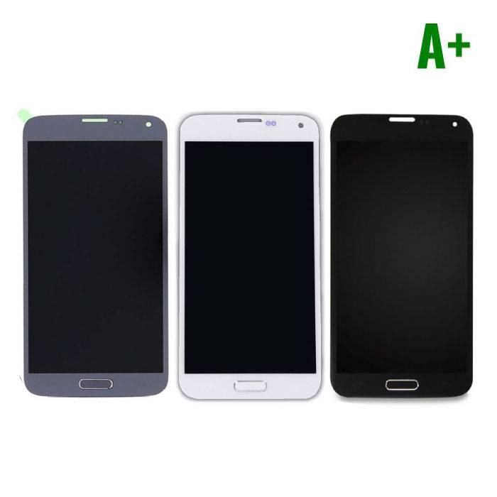 Samsung Galaxy S5 I9600 Scherm (Touchscreen + LCD + Onderdelen) A+ Kwaliteit - Blauw/Zwart/Wit