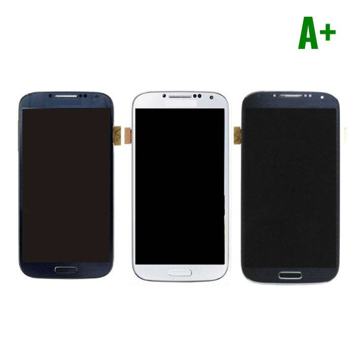 Samsung I9500 Galaxy S4 screen (Touchscreen + LCD + Onderdelen) A+ Quality - Blue/Black/White