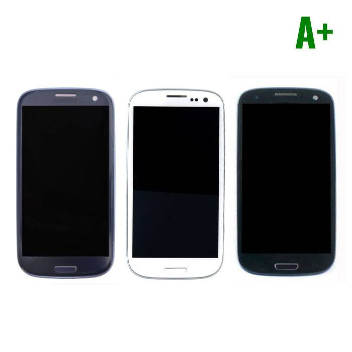 Samsung Galaxy S3 I9300 screen (Touchscreen + LCD + Onderdelen) A + Quality - Blue/Black/White