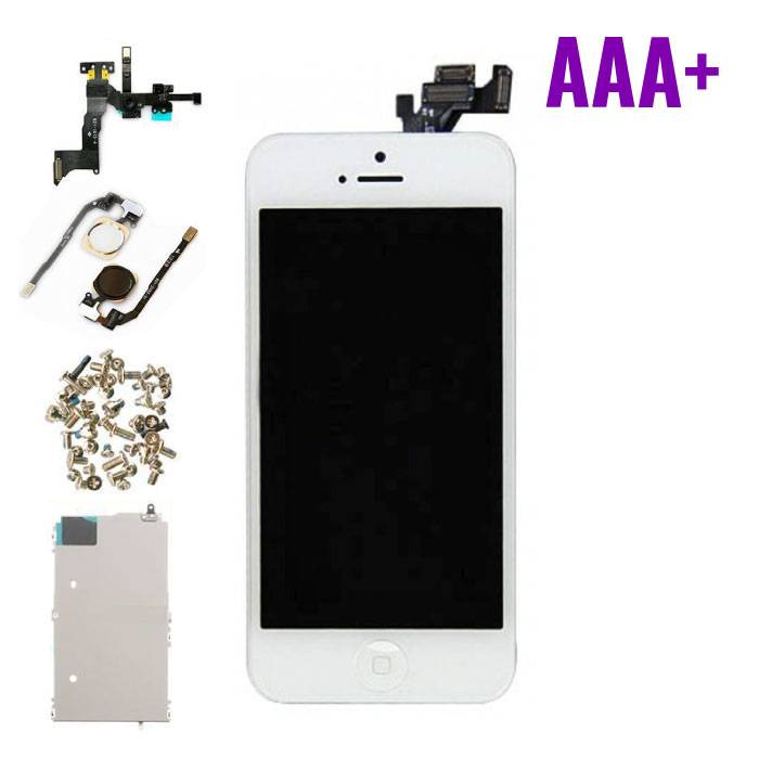 iPhone 5 Pre-mounted screen (Touchscreen + LCD + Onderdelen) AAA+ Quality - White
