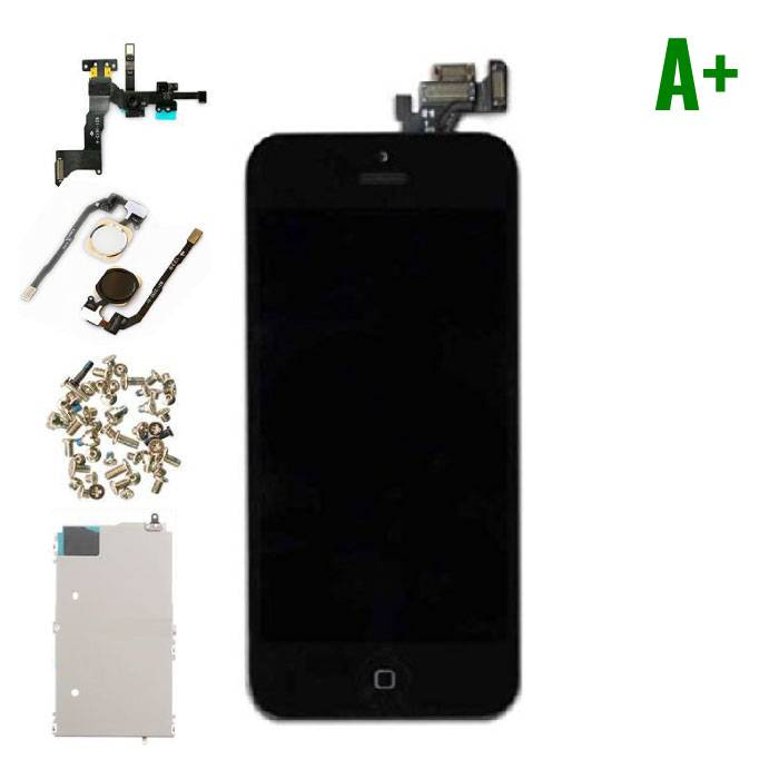 iPhone 5 Pre-mounted screen (Touchscreen + LCD + Onderdelen) A+ Quality - Black