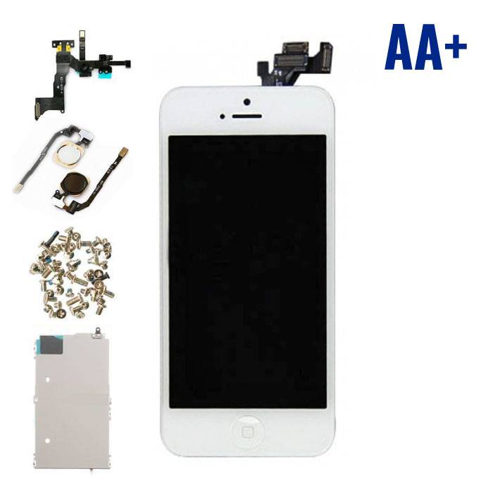 iPhone 5 Voorgemonteerd Scherm (Touchscreen + LCD + Onderdelen) AA+ Kwaliteit - Wit