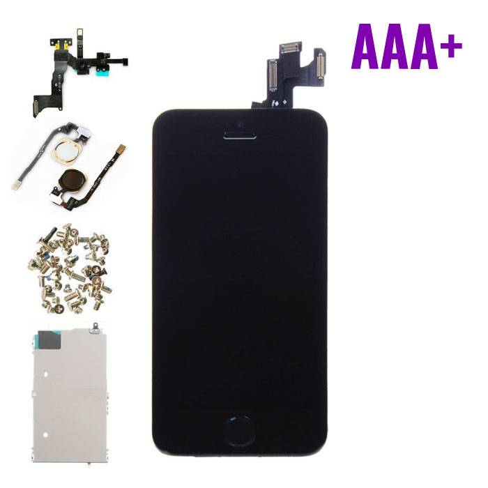 iPhone 5S Front Mounted Display (LCD + Touch Screen + Parts) AAA + Quality - Black