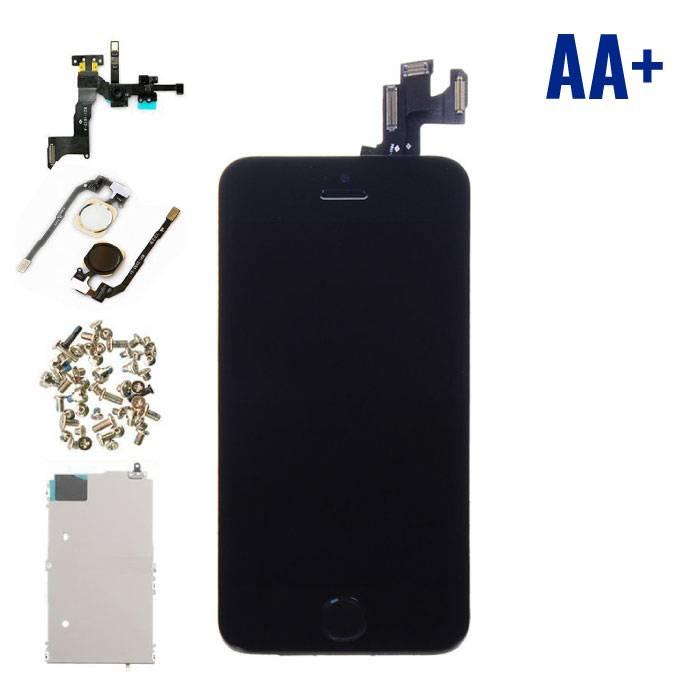 iPhone 5S Voorgemonteerd Scherm (Touchscreen + LCD) AA+ Kwaliteit - Zwart