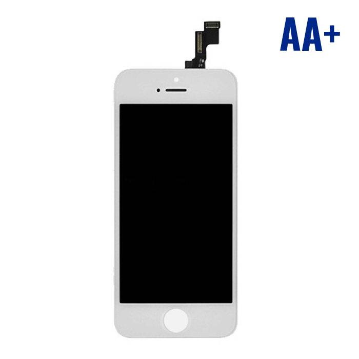 iPhone SE/5S screen (Touchscreen + LCD + Onderdelen) AA + Quality - White