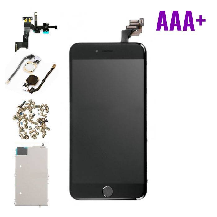 iPhone 6 Plus Pre-mounted screen (Touchscreen + LCD + Onderdelen) AAA+ Quality - Black