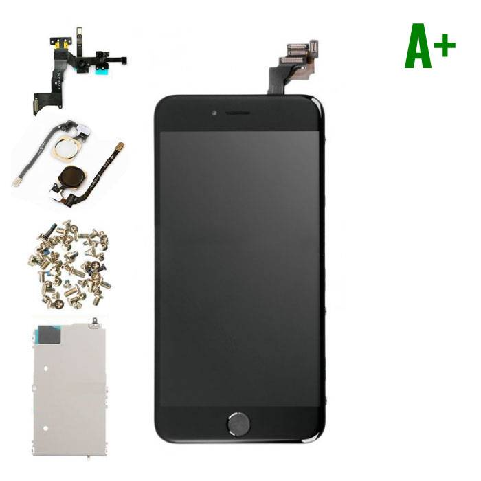 iPhone 6 Plus Pre-mounted screen (Touchscreen + LCD + Onderdelen) A+ Quality - Black