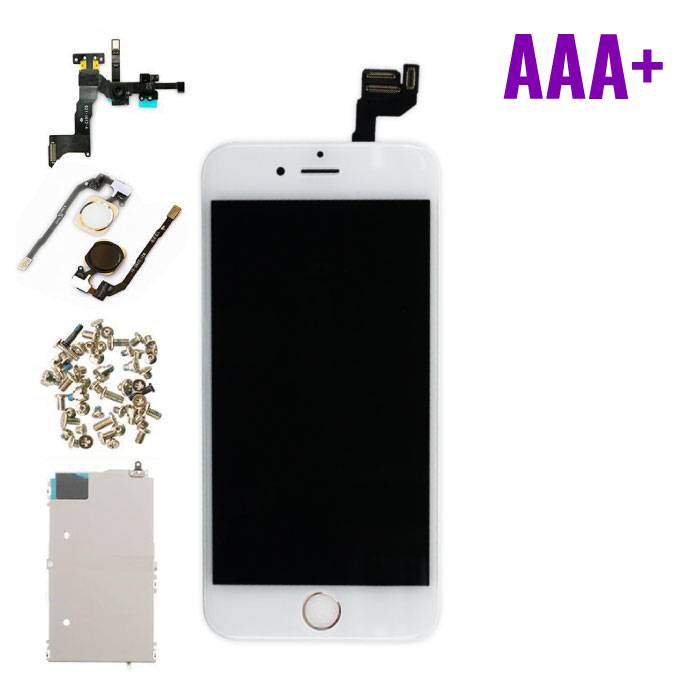 """iPhone 6S 4.7 """"Front Mounted Display (LCD + Touch Screen + Parts) AAA + Quality - White"""