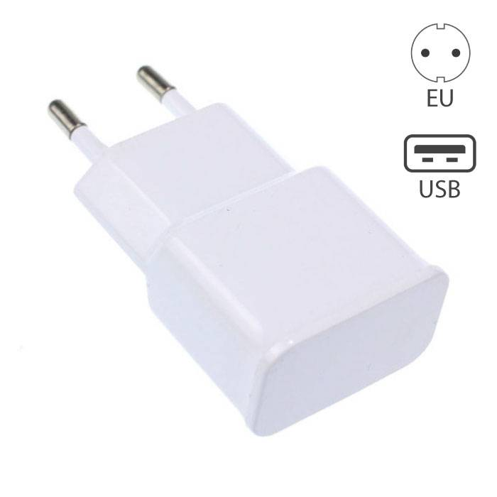 iPhone/iPad/iPod/Android Plug Charger USB Charger White