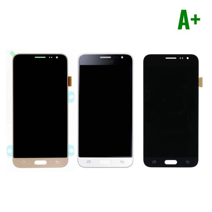Samsung Galaxy J3 2016 screen (Touchscreen + LCD + Onderdelen) A+ Quality - Black/White/Gold