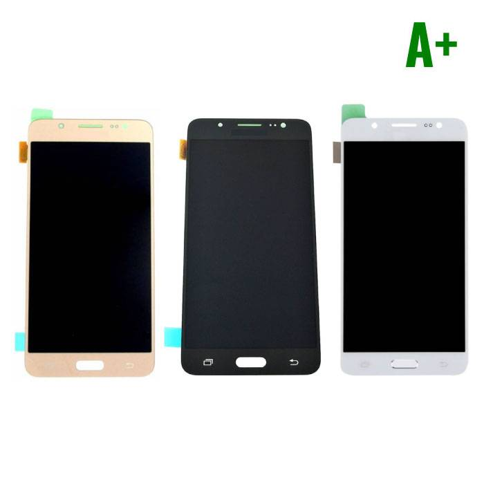 Samsung Galaxy J5 2016 screen (Touchscreen + LCD + Onderdelen) A+ Quality - Black/White/Gold