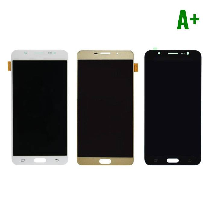 Samsung Galaxy J7 2016 Display (LCD + Touch Screen + Parts) A + Quality - Black / White / Gold
