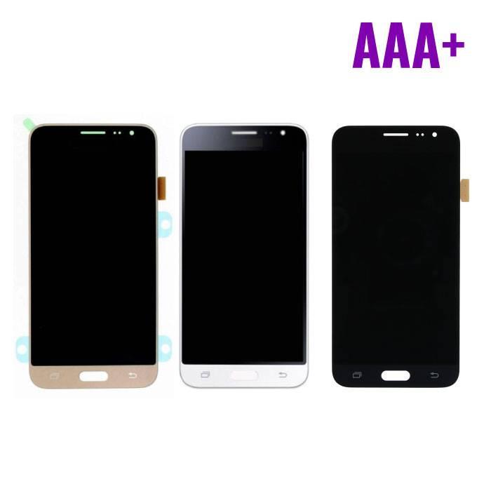 Samsung Galaxy J3 2016 Scherm (Touchscreen + LCD + Onderdelen) AAA+ Kwaliteit - Zwart/Wit/Goud