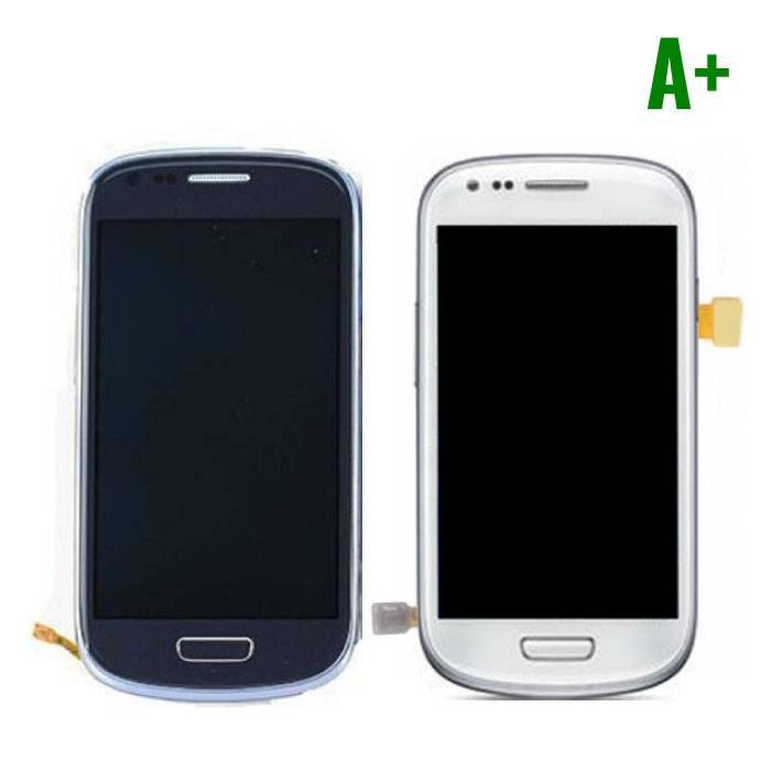 Samsung Galaxy S3 Mini Scherm (Touchscreen + LCD) A+ Kwaliteit - Blauw/Wit
