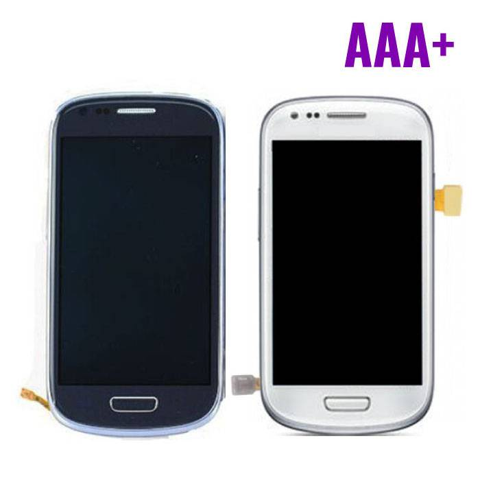 Samsung Galaxy S3 Mini Display (LCD + Touch Screen + Parts) AAA + Quality - Blue / White