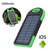 Stuff Certified ® Externe 5000mAh Solar Charger Powerbank Zonnepaneel Noodaccu Oplader Groen