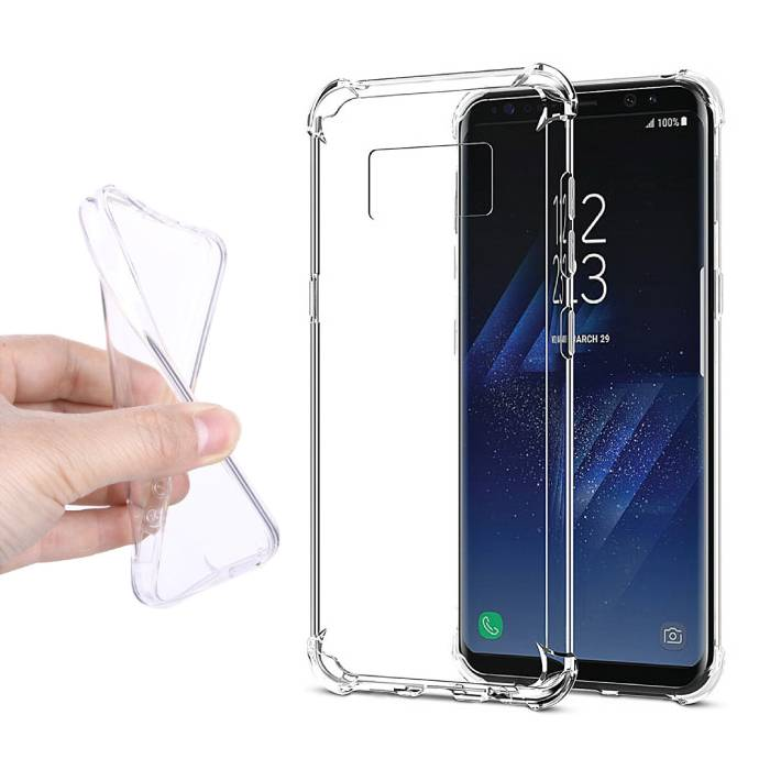 Transparant Clear Case Cover Silicone TPU Hoesje Samsung Galaxy S8 Plus