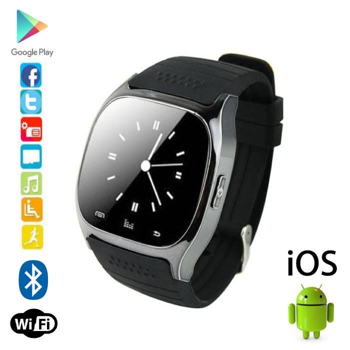 Originele M26 Smartwatch Smartphone Horloge Android iOS Zwart