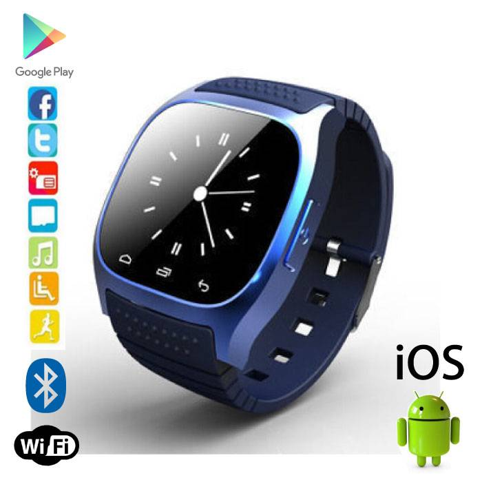 Originele M26 Smartwatch Smartphone Horloge Android iOS Blauw
