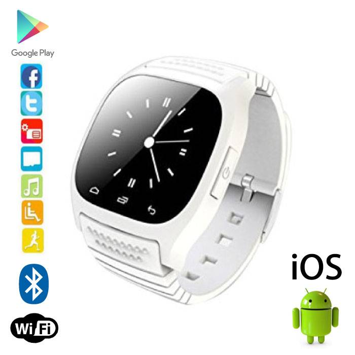 Originele M26 Smartwatch Smartphone Horloge Android iOS Wit