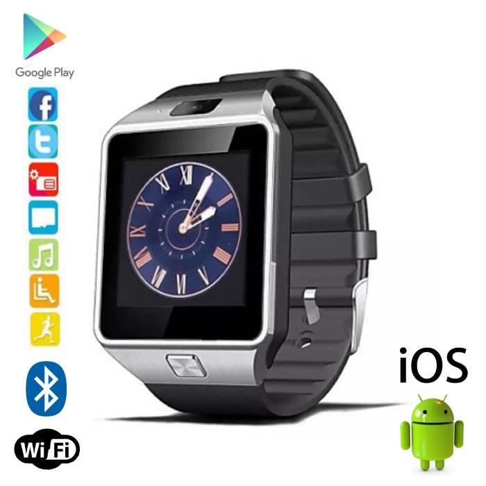 Originele DZ09 Smartwatch Smartphone Horloge OLED Android iOS Zilver