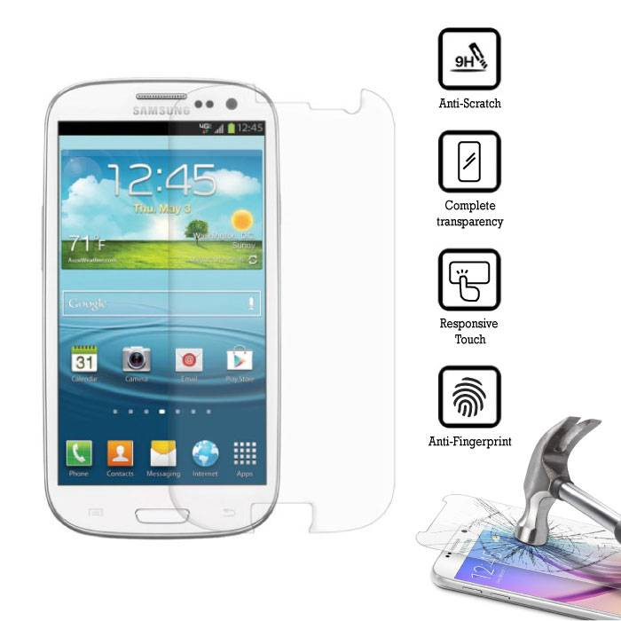 3-Pack Screen Protector Samsung Galaxy S3 i9300 Tempered Glass Film