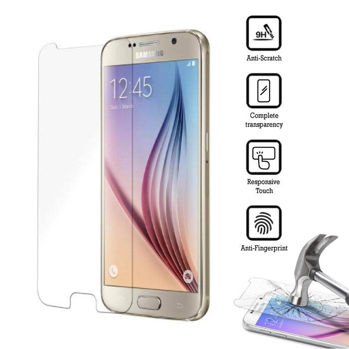 2-Pack Screen Protector Samsung Galaxy S6 Tempered Glass Film