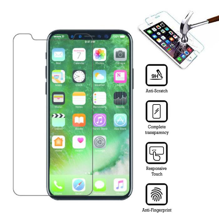 3-Pack Screen Protector iPhone X Tempered Glass Film