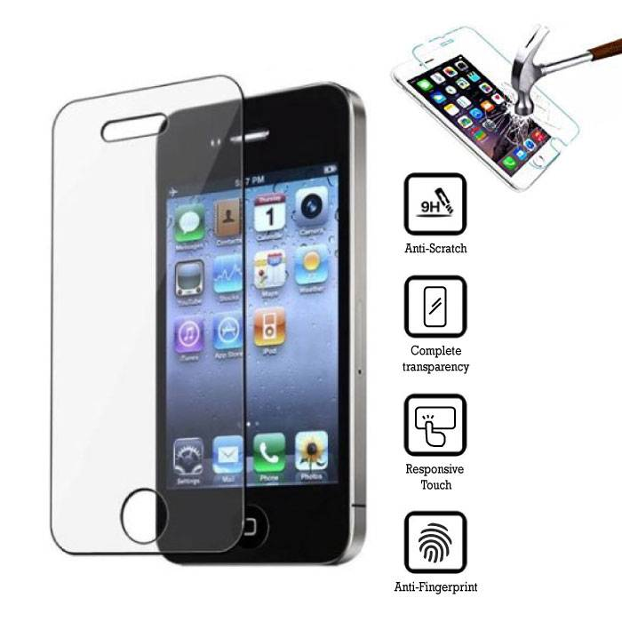 3-Pack Screen Protector iPhone 4S Tempered Glass Film