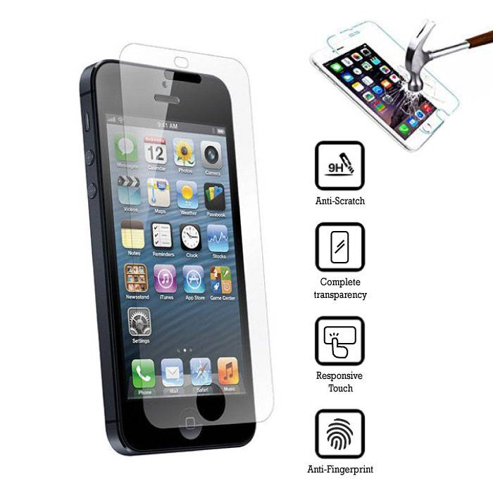 5-Pack Screen Protector iPhone 5S Tempered Glass Film