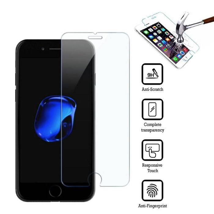 2-Pack Screen Protector iPhone 7 Plus Tempered Glass Film