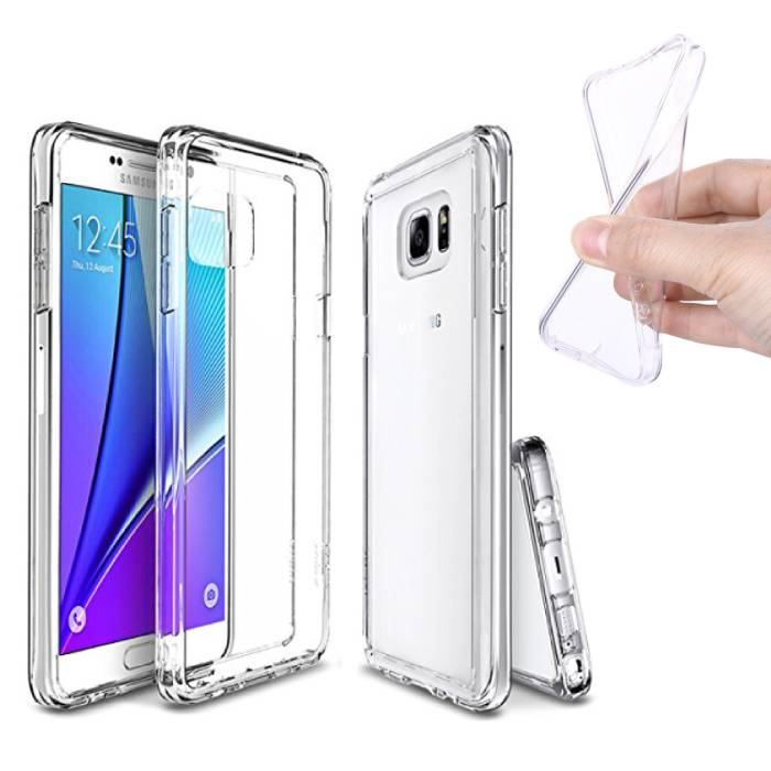 5-Pack Transparant Clear Case Cover Silicone TPU Hoesje Samsung Galaxy Note 5
