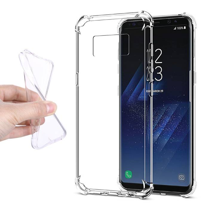 3-Pack Transparant Clear Case Cover Silicone TPU Hoesje Samsung Galaxy S8