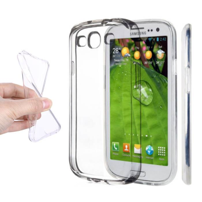 3-Pack Transparant Clear Case Cover Silicone TPU Hoesje Samsung Galaxy S3