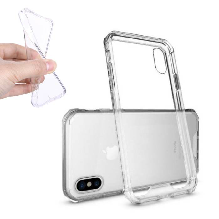3-Pack Transparant Clear Case Cover Silicone TPU Hoesje iPhone X