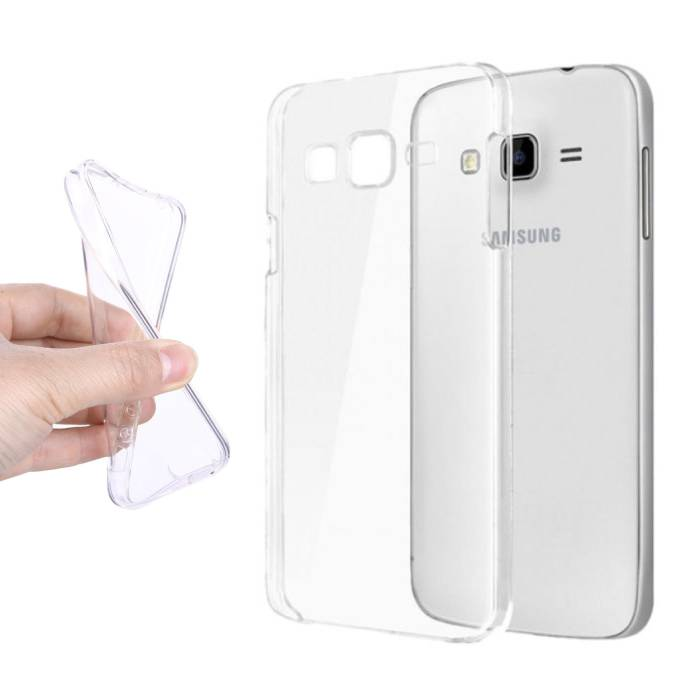 2-Pack Transparent Clear Silicone Case Cover TPU Case Samsung Galaxy J7 Prime 2016