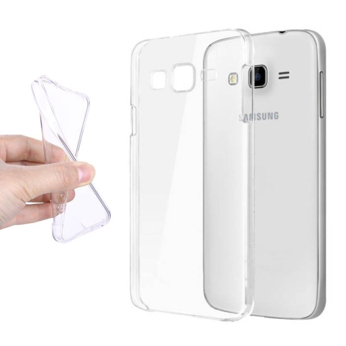 2-Pack Transparent Clear Silicone Case Cover TPU Case Samsung Galaxy J5 Prime 2016