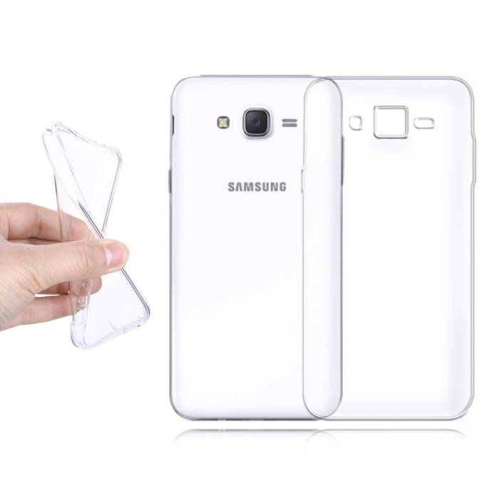 2-Pack Transparent Clear Silicone Case Cover TPU Case Samsung Galaxy J2 Prime 2016