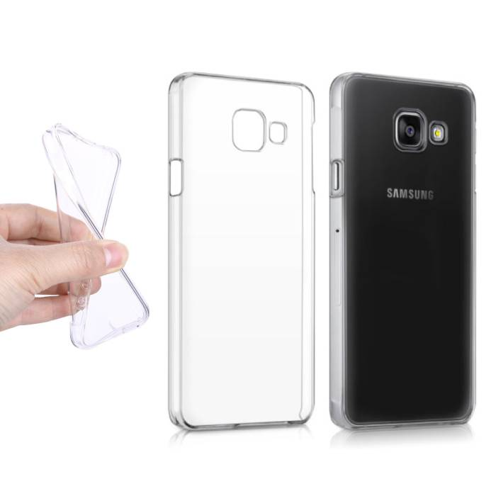 2-Pack Transparant Clear Case Cover Silicone TPU Hoesje Samsung Galaxy A3 2016