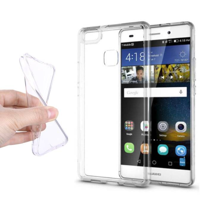2-Pack Transparent Clear Case Cover Silicone TPU Case Huawei P9