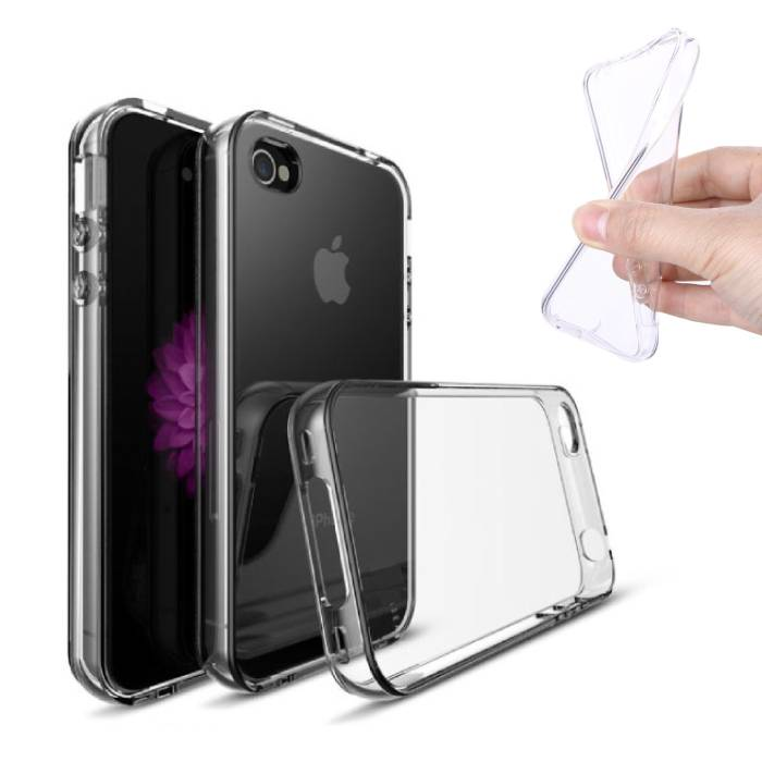 2-Pack Transparant Clear Case Cover Silicone TPU Hoesje iPhone 4