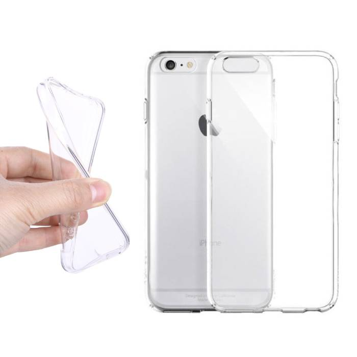 2-Pack Transparent Clear Silicone Case Cover TPU Case iPhone 6S
