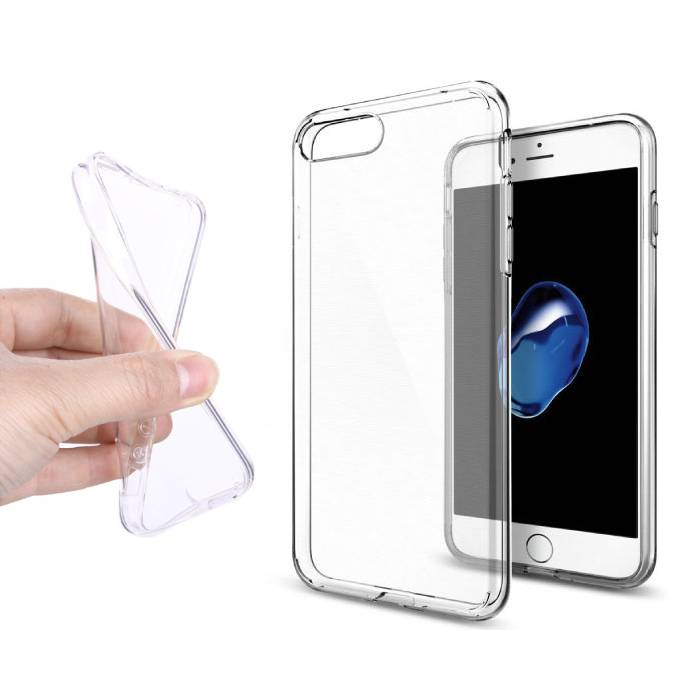 2-Pack Transparant Clear Case Cover Silicone TPU Hoesje iPhone 7 Plus